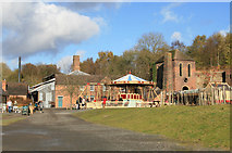 SJ6903 : Blists Hill Victorian Town - ironworks and furnaces by Chris Allen