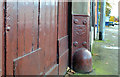 J3652 : Millfield corner protection, Ballynahinch (1) by Albert Bridge