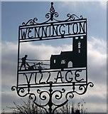 TQ5480 : Wennington Village Sign by David Anstiss