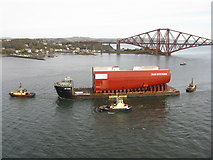NT1279 : View from the Forth Road Bridge by M J Richardson