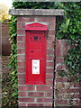 SP9933 : Victorian Post Box set in a brick pillar by Philip Jeffrey