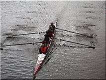 NS5963 : Rowing race on the Clyde by Thomas Nugent