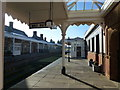 TF6628 : The Royal Station, Wolferton - Looking along the platform by Richard Humphrey