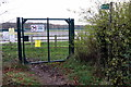SP6640 : Gated access to the bridleway into Silverstone circuit by Philip Jeffrey