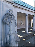 TQ7667 : One of the statues on the surround of the Chatham Naval Memorial by David Anstiss