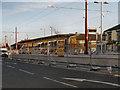 SJ9098 : Droylsden Tram Station Under Construction by David Dixon