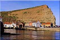 NZ7818 : Cowbar and the Lifeboat Station, Staithes by Paul Buckingham