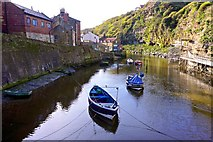 NZ7818 : Fishing Boats, Staithes Beck by Paul Buckingham