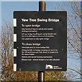 SJ8997 : Yew Tree Swing Bridge Instructions by David Dixon