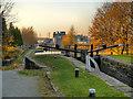SJ8898 : Ashton Canal, Lock 12 (Boneworks) at Clayton by David Dixon
