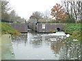 TL2796 : Ashline Lock and Briggate River, Whittlesey by Richard Humphrey