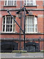 SJ3490 : A derrick in George Street by John S Turner
