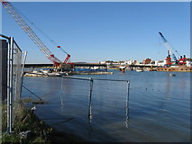 TQ2104 : Old and new Shoreham Footbridge by Dave Spicer