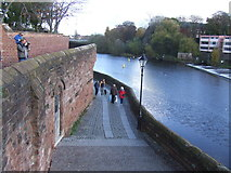 SJ4065 : River Dee and City Wall, Chester by Malc McDonald