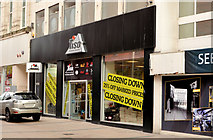 "J3374 : ""Tiso"" closing-down sale, Belfast by Albert Bridge"