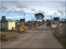 SW6138 : The level crossing at Gwinear Road by Rod Allday