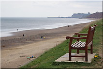 NZ8612 : Bench on Sandsend road by Ian Smith