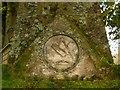 NS3878 : Millburn Kirkyard: Matheson Memorial (detail) by Lairich Rig