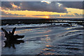 SS9567 : Sunset on a receding tide - Llantwit Major by Mick Lobb