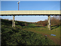 TL3772 : Conveyor belt at Brownshill Staunch by Hugh Venables