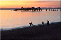 TQ8109 : Sunset at Pelham Beach by Oast House Archive