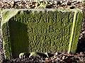 NU0121 : Gravestone, St Michael's Church, Ilderton by Andrew Curtis