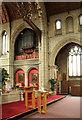 TQ1472 : All Saints, Campbell Road - Organ loft by John Salmon