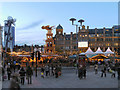 SJ8398 : Exchange Square, Christmas Market by David Dixon