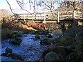 NT9920 : Footbridge over Lilburn Burn by Andrew Curtis