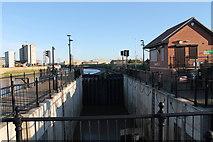 TF3242 : Black Sluice Lock, Boston by J.Hannan-Briggs