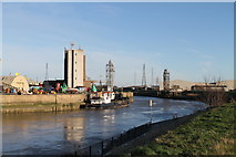 TF3242 : River Witham towards Boston Docks by J.Hannan-Briggs