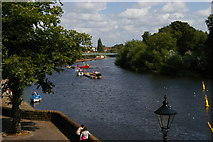 SJ4065 : Chester: looking up the Dee from the city walls by Christopher Hilton
