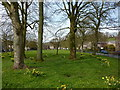SD2475 : Lindal in Furness, Village green by Alexander P Kapp