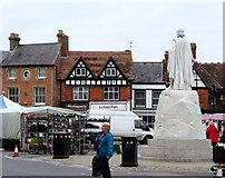 SU3987 : King Alfred's back, Wantage market square by nick macneill