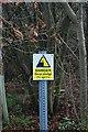 TQ7197 : Footpath Warning Sign by John Myers
