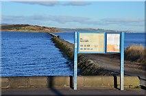 NT1977 : Cramond Island and its causeway by Jim Barton