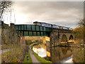SJ9590 : Peak Forest Canal, Railway Bridge (#15A) by David Dixon