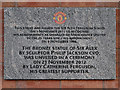 SJ8096 : Dedication, Sir Alex Ferguson Stand by David Dixon