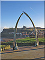 NZ8911 : Whale bone arch, West Cliff, Whitby by Pauline E