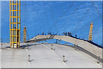 TQ3980 : Climbing the O2 Arena by Oast House Archive