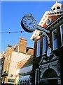 TQ7468 : Corn Exchange clock, Rochester by Paul Gillett