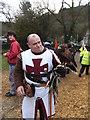 SH7956 : Harris Hawk and medieval handler by Richard Hoare