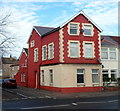 ST1368 : Conspicuous corner house, Cardiff Road, Barry by Jaggery
