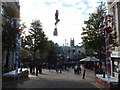 SZ0891 : Bournemouth: The Square and the unicycling Santa by Chris Downer