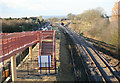 SP1144 : Honeybourne Station looking west by roger geach