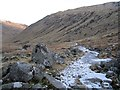 NO2679 : An iced up track at the head of Glen Clova by Richard Webb