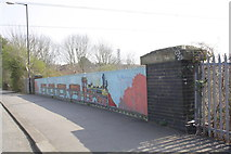 ST6076 : Southern parapet of Constable Road railway bridge by Roger Templeman
