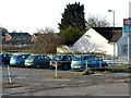 SS8282 : A corner of Pyle railway station car park by Jaggery