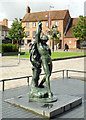 SP2054 : Statue of Hermaphroditus in Stratford-upon-Avon by Roger  Kidd