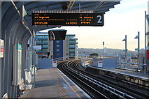 TQ4380 : Gallions Reach station by Oast House Archive